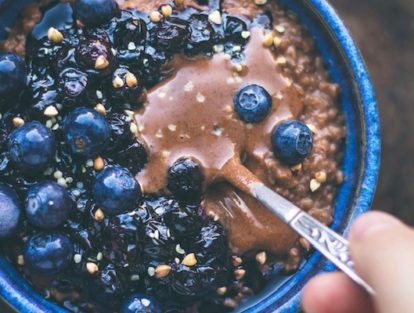Vegan Fruity Chocolate Breakfast Porridge